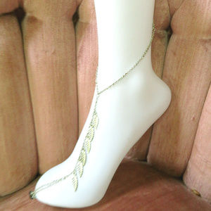 Jewelry - Sliver Leaves Dangeling Ankle Toe Foot Bracelet